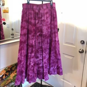 Great purple Tie dye skirt